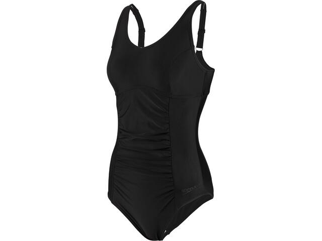 speedo Vivienne Clipback Swimsuit Dame black